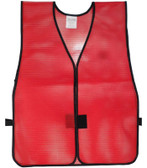 PVC Coated Plain Safety Vest Dark Red Pic 3