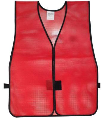 PVC Coated Plain Safety Vest Dark Red Pic 3