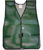 PVC Coated Plain Safety Vest Dark Green pic 4