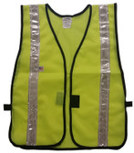 Lime Soft Mesh Safety Vests with 1.5 Inch Silver Stripes Pic 3
