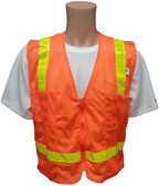 MESH Surveyors Safety Vest Orange Lime Stripes
