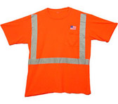 Class Two Level 2 ORANGE Safety MESH SHIRTS with Silver Stripes Pic 3