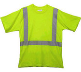 Class Two Level 2 LIME safety SHIRTS with Silver Stripes Pic 3