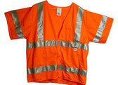 Radians Arc Flame Resistant Orange Sleeved, Class 3 Vest - Silver Stripes