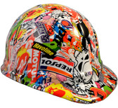 Sticker Bomb Hyrdro Dipped Hard Hats Cap Style