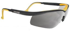 DeWALT High Performance ~ Dual Injected Rubber Glasses ~ Silver Mirror Lens