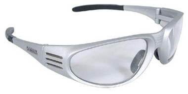 DeWALT Ventilator Safety Glasses ~ SILVER FRAME ~ Indoor/Outdoor Lens