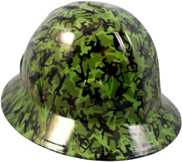 Army Men Green Hydro Dipped Full Brim Hard Hats  e6e865684ef