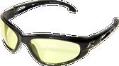 Wolverine (Dakura) Safety Glasses ~ Black Frame with Yellow Lens