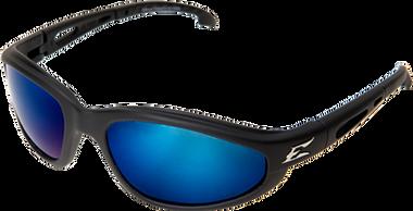 McKinley Safety Glasses ~ Black Frame ~ Polarized A.P. Blue Mirror Lens
