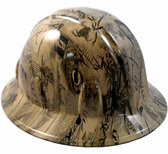 POW Khaki Hydro Dipped Full Brim Hard Hats pic 1