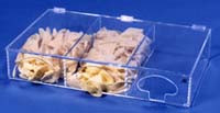 3-Compartment Glove Dispinser Clear  Pic 1