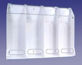 4 Compartment Multi-Purpose Dispenser Clear Acrylic  Pic 1