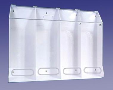 4 Compartment Multi-Purpose Dispenser Clear Acrylic  Pic 1
