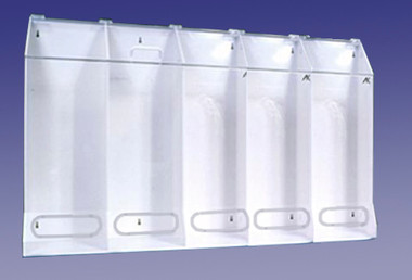 5 Compartment Multi-Purpose Dispenser Clear Acrylic  Pic 1