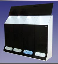5 Compartment Multi-Purpose Dispenser Smoke Acrylic  Pic 1