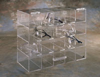 20 Unit Safety Glass Holder w/Door  Pic 1