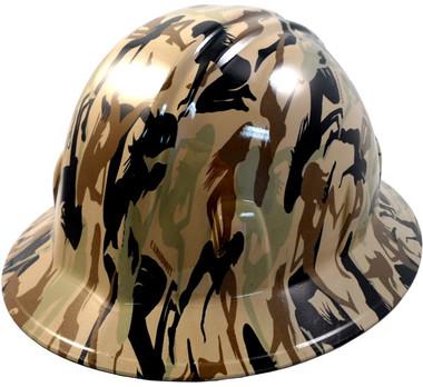 Camo Bootie Khaki Hydro Dipped Full Brim Hard Hats pic 1