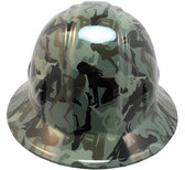 Camo Bootie Green Hydro Dipped Hard Hats Full Brim Style