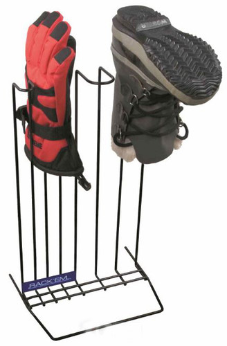 Boot & Glove Drying Rack, Black, Holds 1pr. Boots & 1pr. Gloves