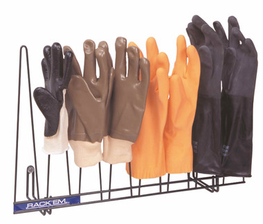 Glove Rack, Dark Green PVC-Coated for high moisture & chemicals, Holds 4 Pairs