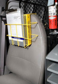 MSDS Binder, Yellow Over-the-Seat, 3-Ring Binder, Notebook, Clipboard Rack