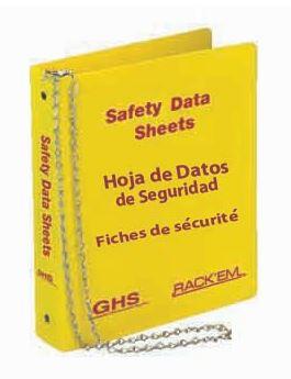 MSDS Binder, 3 inch, 3 Language - English, Spanish & French Canadian