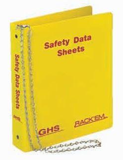 3 inch MSDS Material Data Sheet Binders