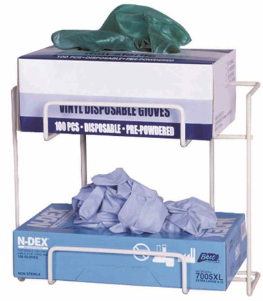 Top Dispensing Exam Glove Rack, Holds 2 Boxes