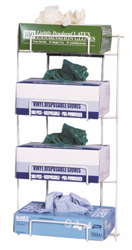 Top Dispensing Exam Glove Rack, Holds 4 Boxes