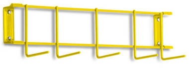 16 inch Utility / Sanitation Rack, (5) 2 inch Hooks - Typical Top Element