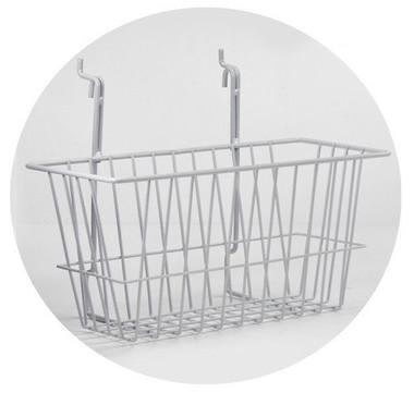 Wire Basket 12 inch x 6 inch x 6 inch, white