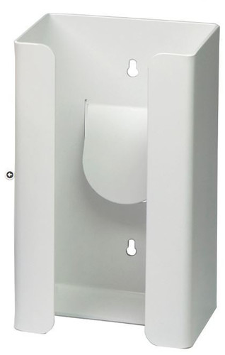 1-Box Vertical Plastic Glove Dispenser, WHITE HEAVY-DUTY PLASTIC