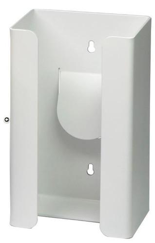 1-Box Vertical Plastic Glove Dispenser, WHITE HEAVY-DUTY PLASTIC