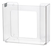2-Box Vertical Plastic Box Glove Dispenser, CLEAR PLASTIC