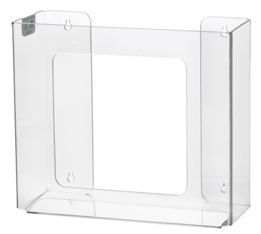 2-Box Vertical Plastic Box Glove Dispenser, CLEAR PLASTIC