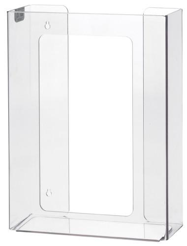 3-Box Vertical Plastic Box Glove Dispenser, CLEAR PLASTIC