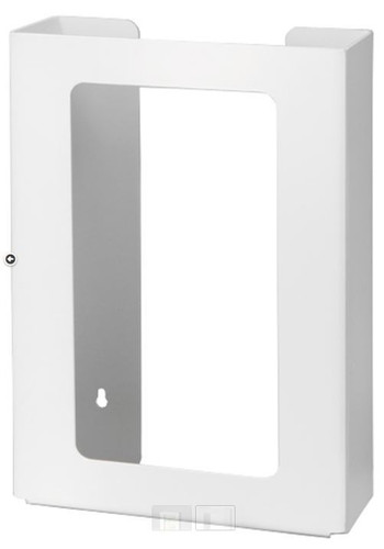 3-Box Vertical Plastic Box Glove Dispenser, WHITE HEAVY-DUTY PLASTIC