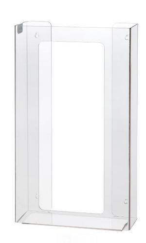 4-Box Vertical Plastic Box Glove Dispenser, CLEAR PLASTIC