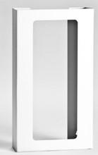 4-Box Vertical Plastic Box Glove Dispenser, WHITE HEAVY-DUTY PLASTIC