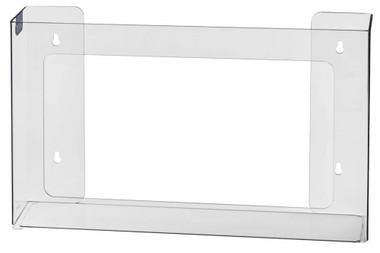3-Box Horizontal Plastic Box Glove Dispenser, CLEAR PLASTIC