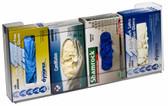 4-Box Horizontal Plastic Box Glove Dispenser, CLEAR PLASTIC