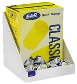 200-Pair (1-Box) Foam Ear Plug Tray, WHITE HEAVY-DUTY PLASTIC PETG
