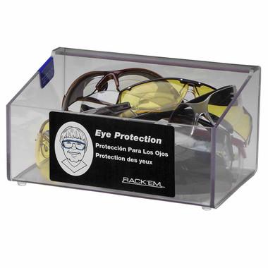60-Pair Foam Ear Plug Dispenser No lid, CLEAR PLASTIC
