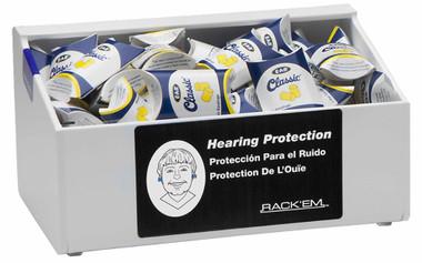 12-Pair Safety Glasses Dispenser No lid, WHITE HEAVY-DUTY PLASTIC