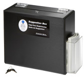 Suggestion Box / Ballot Box, Lockable, BLACK HEAVY-DUTY PLASTIC