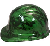 Hades Green Hydro Dipped Hard Hats Cap Style