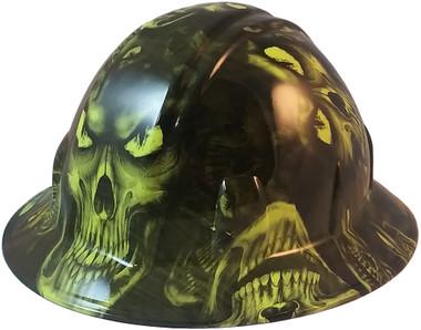 Hades Green Hydro Dipped Full Brim Hard Hats pic oblique