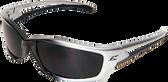 Edge Kazbek Safety Glasses ~ Black Frame, Smoke Lens