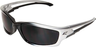 Edge Kazbek Safety Glasses ~ Black Frame, Smoke Lens